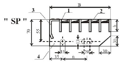 Контактно-заварени стъпала - SP по DIN 24 531