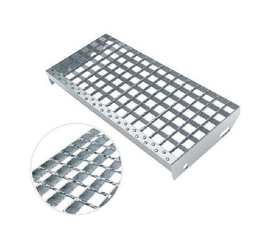 Press welded grating treads