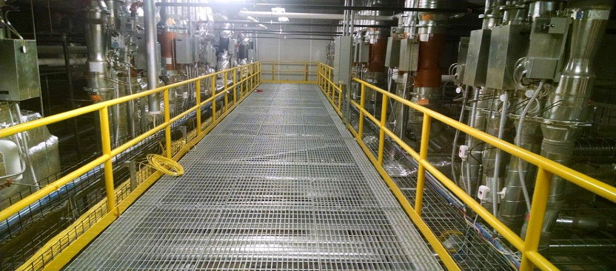 Production and supply of steel gratings and stair treads